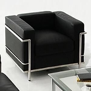 ル・コルビジェLC2ソファ シングル ブラック