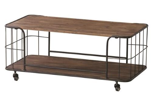 天然木×スチールセンターテーブル