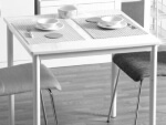 鏡面ホワイトテーブル75cm