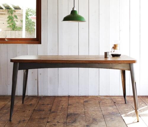 ヴィンテージデザインダイニングテーブル150cm