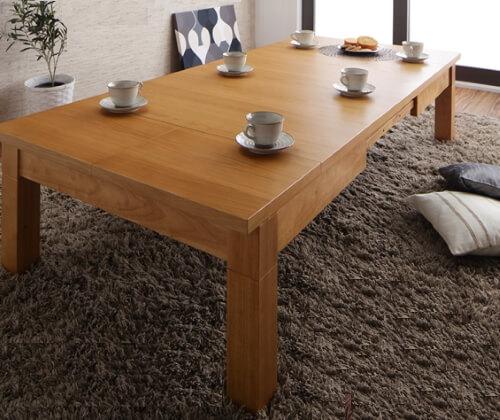 伸長式こたつテーブル