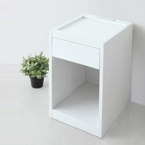 木製ホワイトナイトテーブル