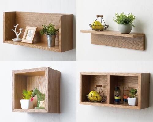 木製コンパクトウォールシェルフ