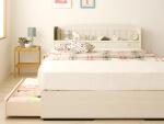 収納ベッドcamomilleカモミーユ ホワイト