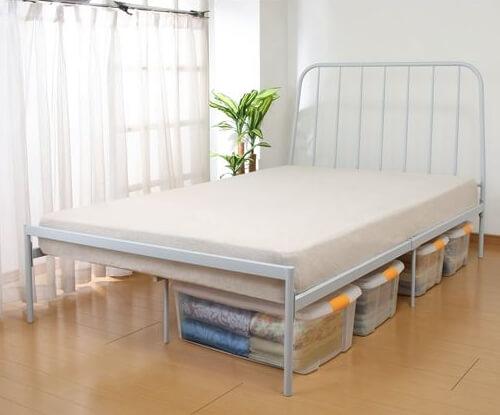 デザインスチールベッド