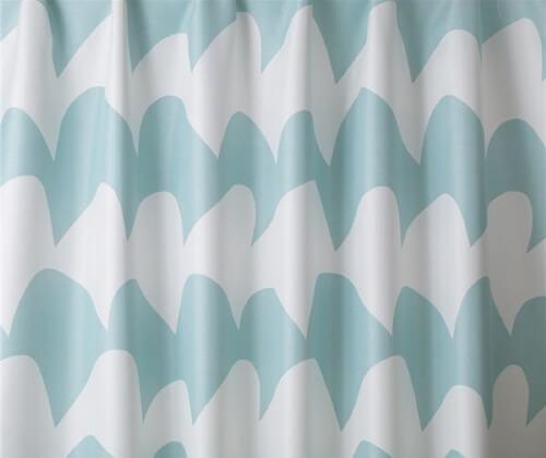 遮光カーテン サザナミ ライトブルー