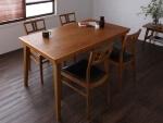 天然木北欧ヴィンテージスタイルダイニングテーブル【LEWIS】ルイス5点セット