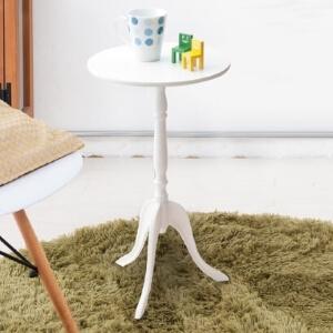 円形サイドテーブル ホワイト