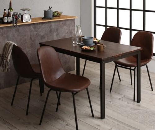 ヴィンテージデザインダイニングテーブル5点セット