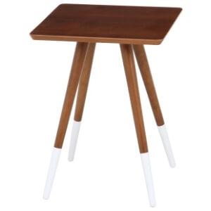 ブラウン×ホワイトサイドテーブル
