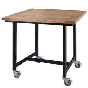 キャスター付きダイニングテーブル80cm