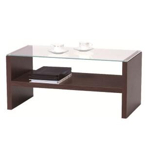ブラウンリビングテーブル