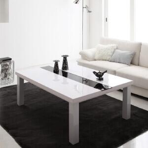 こたつテーブル75×105cmラスターホワイト