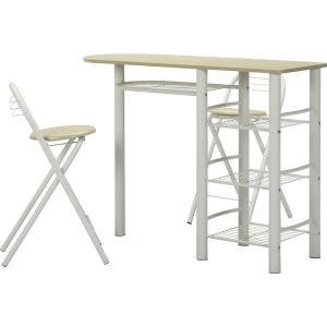 カウンターテーブル&チェアーセット ホワイト
