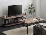 ヴィンテージデザインテレビボード+センターテーブルBartual
